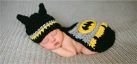 Wholesale Photos Shooting Props - aby photo props baby newborn photography set baby photography accessories baby cap Batman girl hat newborn photo shoot 0-3 M
