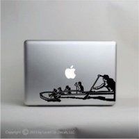 Wholesale Transformer Wall Stickers - Outrigger Canoe Laptop Vinyl Decal,macbook pro skin,Hawaiian,bangka,Polynesian  Car sticker wall phone Laptop Decal decals sticker