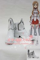 Wholesale Asuna Shoes - Wholesale-Free Shipping Sword Art Online Yuuki Asuna Cosplay Boots Anime Shoes