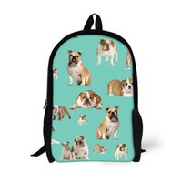 Wholesale Character Notebook - FORUDESIGNS Polyester Children School Bags Backpack for Boys Girls Students Book Bag Cute Cow Dogs Printed Teenager Notebook Bag