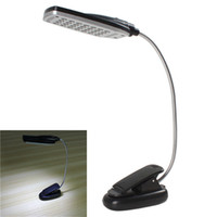 Barato Mesa Clara Brilhante-USB / Energia da bateria Nova luz de leitura Pro Flexível Super Bright 28 LED Light Clip-on Bed / Table / Desk Book Lights Lamp LEG_30A
