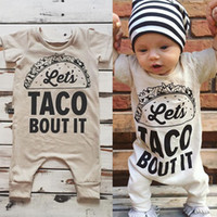 Wholesale Cute Girl Toddler Shorts - 2017 Baby Romper Newborn Letter Print Bodysuit Girl Boy Fashion Summer Fall Clothes Toddlers Long Sleeve Kids Clothing Cute