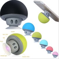 Wholesale Cute Usb Speakers - 2017 high quality Mini Portable cute Mushroom Bluetooth Speaker Portable speaker With Silicone Sucker Subwoofer USB For Android IOS DHLFree