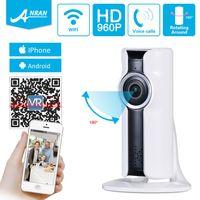 Wholesale Remote Access Cctv - ANRAN Mini 960P Wifi VR Wireless IP Camera HD 180 Angle Network Indoor Security CCTV Camera Home Surveillance Cameras
