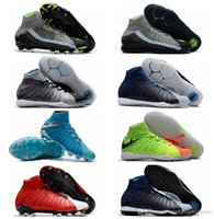 Wholesale High Ankle Baby Shoes - 2017 original ankle high kids hypervenom phantom 3 DF FG TF IC III Mens hot sale indoor neymar boots baby outdoor leather shoes HypervenomX