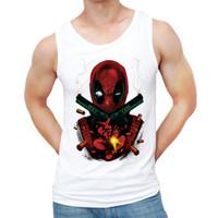 мужчины надевают новейшую моду оптовых-Wholesale- 2016 Newest America Comic Badass Deadpool Men Tank tops Fashion Deadpool With Gun Printed Vest Summer Hipster Punk Tee