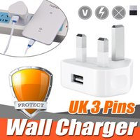 Universal UK 3 Broches Mains Chargeur Adaptateur Plug 5 V 1A UK USB Adaptateur Mural Pour iPhone X 8 Plus 7 6 6S Samsung S8 S7 Note 8 Android Tablet PC