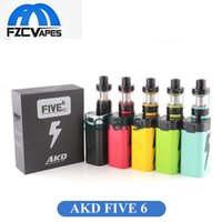 Auténtico Kanger AKD Five 6 220W Kit 5 Batería de Energía Big Mod Vape Kit E Cigarrillo 8ml Top Refilling Atomizer 100% Original FIVE6