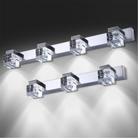 Wholesale Modern Luxury Bathroom - Modern Luxury LED Mirror Light High Bright LED Crystal Bathroom Wall Lamp Bright Mirror Front light Wall Sconces Washroom Wall Lamp