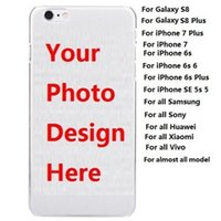 Wholesale Diy Paint Phone Case - Customized Phone Case DIY OEM Paint Printing Soft TPU Case For Samsung Galaxy S8 Plus   S8   For iPhone 7 Plus 6s 6 DHL