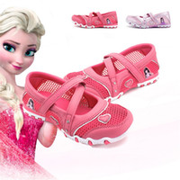 Wholesale Anime Princess Cosplay - Girl Queen Elsa Princess Sandals Anime Cosplay Shoes Fashion Lolita Sweet Children Shoes Non-slip Shoes Breathable Children Sandals