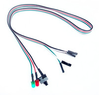 Wholesale Computer Power Reset Switch - Desktop Computer PC Case Power cable SW switch Re-starting switch Power Reset HDD LED + 2 Switch Cable Connector Adapter