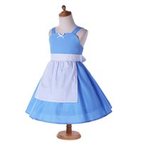 Wholesale American Alice - Summer Girls Dress Alice Casual Dresses black white dot Harness dress cotton little cute apron vestidos sweet girl MSG071