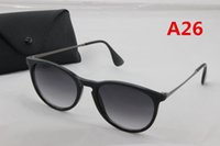 Wholesale United Designers - 1pcs Europe and the United States fashion men's Ray sunglasses high quality gray gradient lens metal frame BANS glasses brand designer