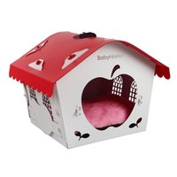 Wholesale House Keeping - 40*39*44Cm Fashion Dog House Removable Washable Dog Bed Keep Pet Warm Nontoxic Easy To Build Plastic Dog Houses Pet Supplies Mixed Colors
