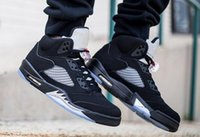 Wholesale High Reflective Pvc - (With Box) high Quality air retro 5 OG Black Metallic Mens Basketball Shoes 3M Reflective Effect Sup retro 5s sport Sneakers eur 41-47