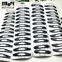 Wholesale Bb Accessories - Kids BB Clips Hair Snap Clips Accessories For Women Girls Black Hairgrips Barrettes Head Hairpins Jewelry 11 styles Hot Sale 120pcs lot