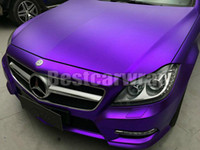 Wholesale Vehicle Decal Wraps - 2017 Purple Satin Chrome Vinyl Car Wrap Film with air bubble Free For Luxury Vehicle Graphics Covers foil decals 1.52x20m 5x67ft roll