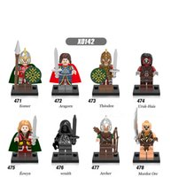Wholesale Super Lord - DHL 60Set Super Hero The Lord of the Rings Eomer Aragorn Theoden Uruk-Hais Eowyn Wraith Archer Mordor Orc Kids Gift Toys X0142