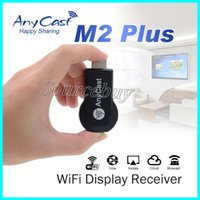 Wholesale Analog Receiver - AnyCast M2 Plus Miracast HDMI WIFI Display Am8252 dongle Airplay Receiver Wireless Full HD 1080P DLNA chromecast 2 Dongle Adapter TV Stick