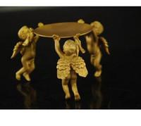 Wholesale Art Bronze Sculpture - brass Animal 3 angel oil lamp Candle Holder Candlestick statue mk Sculpture wholesale factory Bronze Arts