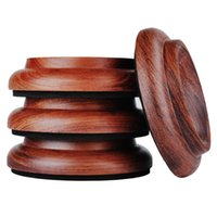 Wholesale Furniture Casters - New Hardwood Upright Piano Caster Cups Set of 4 Real Red Rosewood Furniture Leg Pads Protection