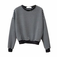 Wholesale Young Office Fashion - Women Striped TShirt Slim Girl Casual 2Color Office Young Ladie Fashion Long Sleeve Summer Tops Tees Hoodies Sweatshirts Pullovers YYFS 5327