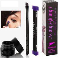 Wholesale Makeup Tools Full Set - 3pcs Set Easy to Makeup Vamp Stamp eyeliner cream Brush Eye Eyeliner Tool Cat Eye Winged Wing Black Eyeliner Stamp Eye Cream KKA2102