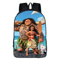 Wholesale Best School Bags For Girls - 12 Design Moana School Backpacks Kids Cartoon school bags 42*30*16cm for big girls Best Gifts for kids