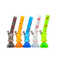 Wholesale Tooth Shapes - New Arrival 220MM Frosted Printing Acrylic Bongs Base with Herb Grinder Pyramid Shaped Teeth 2 Piece Water Smoking Pipe Shisha Hookah
