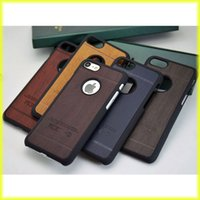 Wholesale Wooden Packing - For iPhone7   6s Creative Wooden Patterns Mobile Phone Case PC Half Pack Hard Shell Wholesale with Retail Bag via Free Shipping