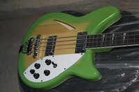 Wholesale Green Electric Bass Guitar - Rare RIC 4 String 3 Color Green Sunburst Semi Hollow Body 360 Electric Bass Guitar Chrome Hardware White Pearloid Triangle Fingerboard Inlay