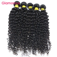 Glamorous Peruanischen Jungfrau Haar webt 4 Stück Jerry Curly Haarverlängerungen Perfact Curly Weave Brasilianischen Malaysian Indian Human Hair Bundles