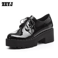 Wholesale Women S Platform Pump Shoes - ZZYJ Dropshipping Women's Waterproof High-heeled shoes genuine leather lace heavy low-top shoes Spring summer shoes Ms.'s Pumps C8161