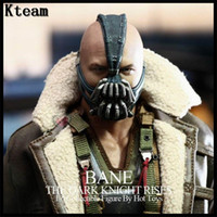 Wholesale Bane Mask Batman - Top Grade 100% Latex Bane Masks Batman Movie Cosplay Props The Dark Knight Latex Mask for Halloween Party Cosplay Bane Head Mask