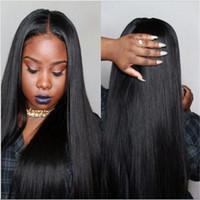 1b des cheveux blancs achat en gros de-FULL LACE WIGS Tailored Fascinant Longue Couleur Noir # 1B Cheveux Humains 100% Full Lace Perruque Perruque Pour Les Femmes Blanches Fabricant Vendeur Livraison Gratuite