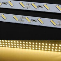 Wholesale Led For Jewelry Display - Edison2011 Super Bright Hard Rigid Bar light DC12V 100cm 72led SMD 7020 Aluminum Alloy Led Strip light For Cabinet Jewelry Display Free DHL