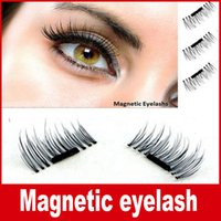 Wholesale 3d Hair - Magnetic Eye Lashes 3D Mink Reusable False Magnet Eyelashes Extension 3d eyelash extensions magnetic eyelashes makeup