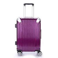 Wholesale Commercial Luggage Trolley - 2017 Commercial Suitcase 20 22 24 Inch Spinner Wheel PC Trolley Travel Rolling Luggage Suitcases Women M SIZE Trolley Luggage