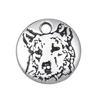 Antico Sivler ha placcato uccelli australiani di bestiame Piccoli animali dello squalo Charms Charms in lega di zinco per le collane Diy Bracciali Making