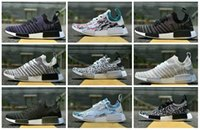 Wholesale Outdoor Lighting Multi Color - 2017 Wholesale Sneakersnstuff NMD Datamosh Pack Collection R1 Primeknit Runner NMD R1 PK Tri-Color Pack Men Womens Shoes Size 36-45