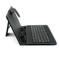 Wholesale Ipad Mini Folding Keyboard - hot sale tablet case 7 8 9 10 inch universal tablet usb stand leather keyboard case