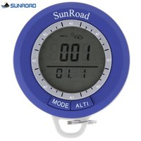 Wholesale Handheld Altimeter - Wholesale- Newest Smart Thermometer SUNROAD SR108N Handheld Mini Digital Altimeter Barometer Thermometer Compass Weather Forecast Timer