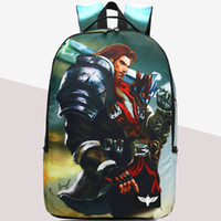 Wholesale Handsome Cartoon - Garen backpack League of Legends daypack Lol handsome schoolbag Game rucksack Sport school bag Outdoor day pack