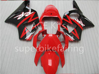 Wholesale Cbr 954 Fairings - 3 free gifts Motorcycle Fairing kit For HONDA CBR900RR 02 03 CBR 900RR 954 2002 2003 ABS Fairings set black Red AF11