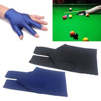 Guanto di alta qualità professionale 3 colori 1Piar durevole in nylon 3 per biliardo Pool Snooker Cue Shooter nero