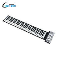 Wholesale Electronic Digital Piano - Wholesale-Portable 61 Thickening Keys Electronic Roll Up Piano MIDI Soft Keyboard Piano High Quality Flexible Silicone rubber keyboard