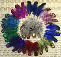 Wholesale Chicken Feathers For Sale - Free shipping 200pcs 4-8cm colorful mix dyed real natural almond pheasant plumage feathers craft for jewelry making bulk sale