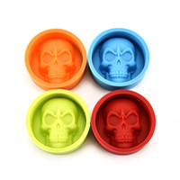 Wholesale Ring Ice Cubes - Chocolate Silicone Mold Cake DecorationsHot Halloween Handmade Wholesale green Skull Baking Moldwacky skull ice cube soft ice lattice of bon