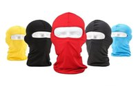 Wholesale thermal fleece hoods - Wholesale-Camouflage Thermal Fleece Balaclava Warm Winter Cycling Ski Neck Masks Hoods Paintball Hats Motorcycle Tactical Full Face Mask